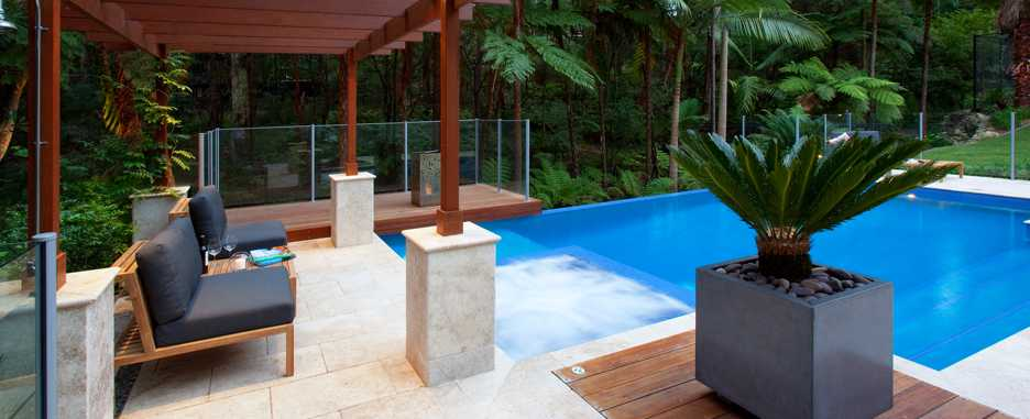 Landscape design swimming pool design fluid design for Pool design brisbane